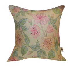 Printed Jute Cushion Cover