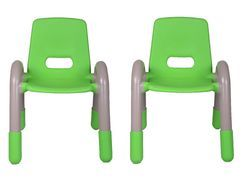 Green Plastic Kids Chair Pair ( The Volver Engineering )