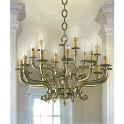 Traditional Hanging Brass Chandelier