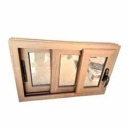 Teak Wood Wooden Sliding Window