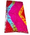 Bandhani Dupatta Tapeta Silk Mirror Work