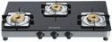 Black Stainless Steel Cooktop Glass, Size: 77 Cm