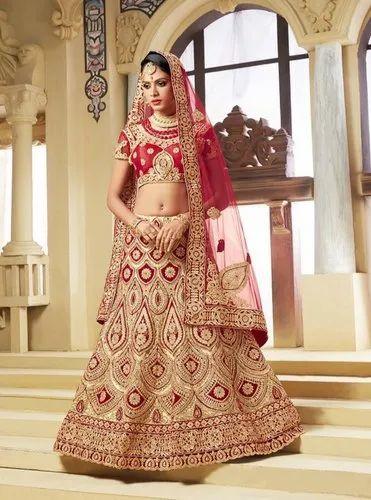 3d4810602b Chanderi Unstitched Bridal Lehenga, Rs 2259 /piece, Diya Cab LLP ...