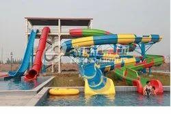 Swimming Pool Spiral Slide