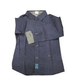 Blue Printed Casual Boys Shirt, Packaging Type: Box