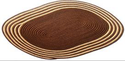 Oval Mat Dt Color Braided Doormat, Size: 15