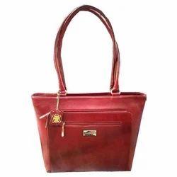 Red Ladies Stylish Leather Handbag, Yes