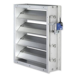 Aluminum Air Damper, Shape: Rectangular, for Smoke Control