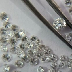 2.4mm 0.05 Carat RBC EF Color Lab Grown CVD Scale 2 Diamond