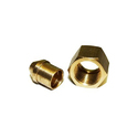 Brass Solder Nut And Nipple Set