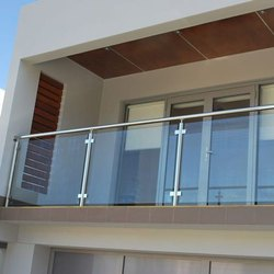 Polished Stairs Stainless Steel Railings, for Construction
