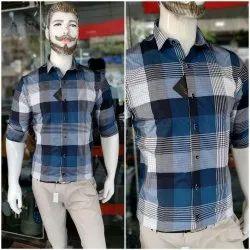 100% Cotton Men Check Shirts