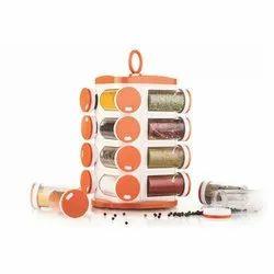 16 Jar Set Plastic Pop Up Spice Rack