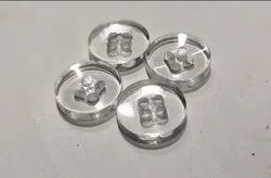 Polyester Round Transparent Cotton Shirt Button For Garments, Packaging Type: Packet