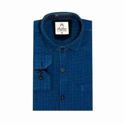 AADHAR Collar Neck Mens Cotton Casual Shirt