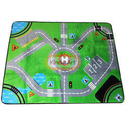 City Map Soft Velvet Carpet