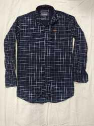 Men Cotton Full Sleeves Check Shirt