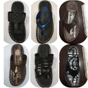 Leather Eva Gents V Shape Slipper