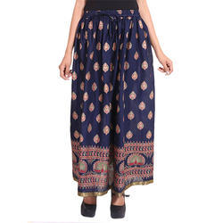Cotton Jaipuri Designer Skirt, Size:  S to XXL