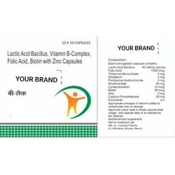 Lactic Acid Bacillus, Vitamin B-Complex, Folic Acid, Biotin with Zinc Capsules
