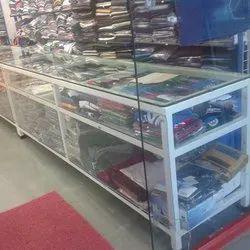 Kruger Rectangular Display Glass Cloth Counter, for Shop