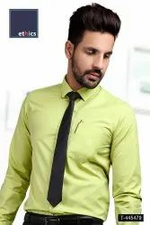 Green Color Men's Formal Uniform Shirt T-445479