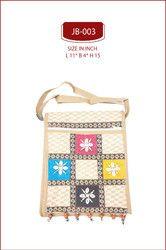 Cream Ethnic Traditional Jute Sling Bag