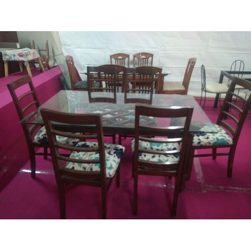 Glass Brown Wooden Dining Table Rs 35500 Set Goodwill Furniture