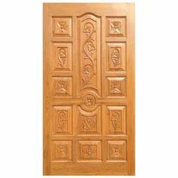Polished Teak Wood Door, Thickness (Millimetre): 30 mm