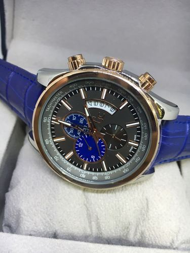 Luxury(Premium) Branded & Exclusive blue leather strap Watches for men' s