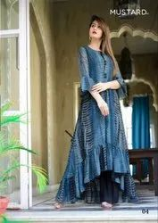 Mustard Present Cocktail Indowestern Style Dress Collection