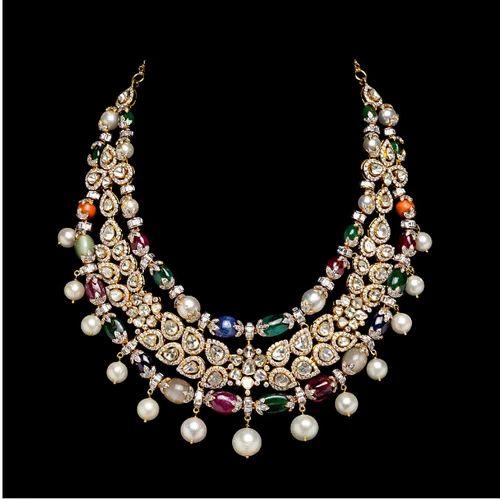 Real diamond necklace heere ka haar lakshikaa jewels mumbai real diamond necklace mozeypictures Gallery
