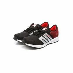 Mens Black Red Walking Shoes