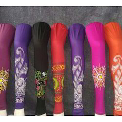 Cotton Lycra Straight Fit Ladies Printed Leggings, Size: Large
