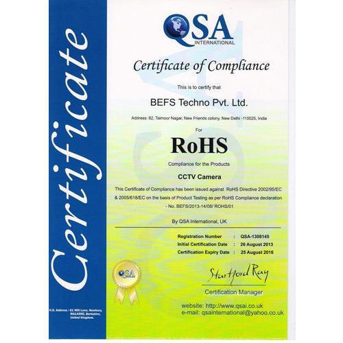 ROHS Compliance Certificate, Rohs Certification Services ...