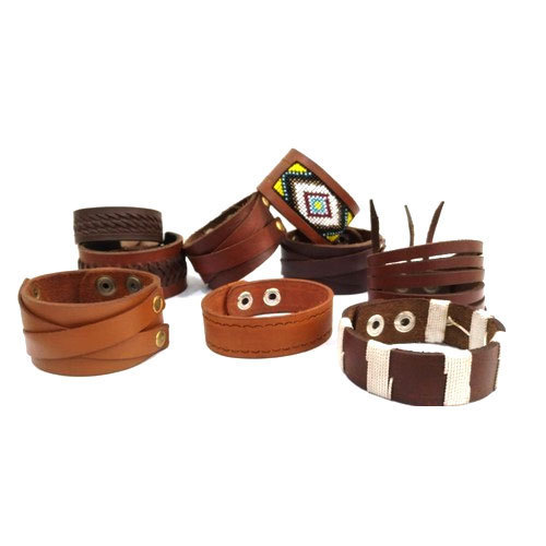 Brown Knitting Leather Bracelet