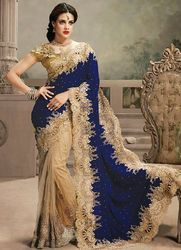 Saree With Heavy Stone Work