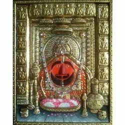 Gold Wooden Salasar Hanuman Balaji Painting, Size: 18x24 Inch