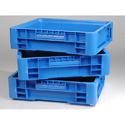 Blue Hdpe Plastic Crates Creation Febrication, Capacity: 25 Liter