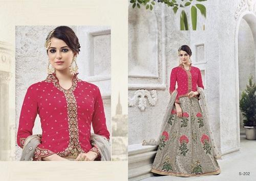 Silk Party Wear Wedding Wear Designer Koti Style Indo Western Suit