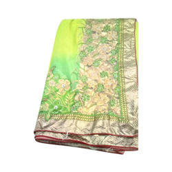 Cotton Ladies Party Wear Saree, 5.5 m (separate blouse piece)