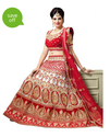 Red Embroide Lehenga