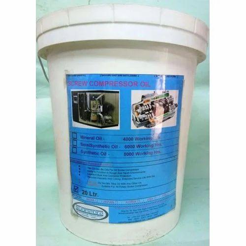 Screw Compressor Oil, Pack Size: 20ltr, Packaging Type: Bucket