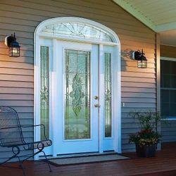 Multicolor Designer Door Glass