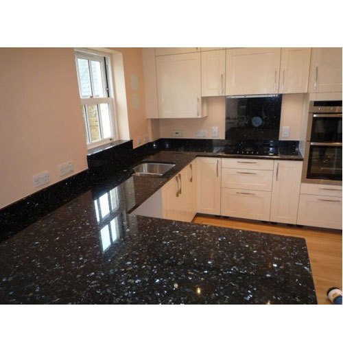Polished Black Pearl Granite Tile, for Countertops, Rs 75 /square ...