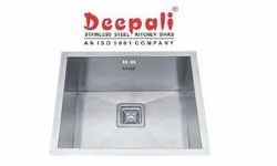 Deepali Matt Stainless Steel Single Bowl Handmade Sink, Size: 24x18