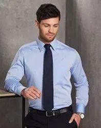 Male Blue Formal Oxford Shirt