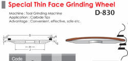 Special THin Face Grinding Wheel