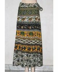 Jaipuri Printed Rapron Skirt