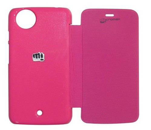 official photos 63845 61f93 Flip Cover For Micromax Canvas A1 (pink)